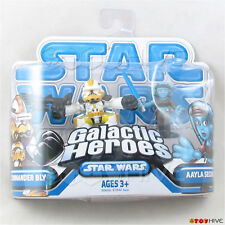 Star Wars Galactic Heroes Commander Bly & Aayla Secura - worn dented package