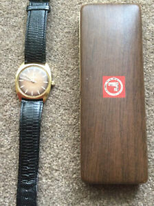 VINTAGE ROAMER ANFIBIO MANUAL WIND MEN'S WATCH.GOLD PLATED Brown Face GWO