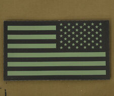 "IR Infrared Reflective Patch NVG ""USA Flag OD Rev"" with VELCRO® brand hook"