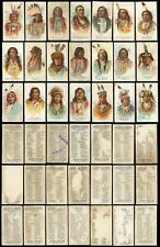 1888 N2 American Indian Chiefs Lot of *21* Different Cards POOR