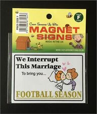 NEW  FUNNY FOOTBALL SEASON MAGNET CAR FRIDGE BOX CARAVAN CAMPER FATHERS DAY GIFT