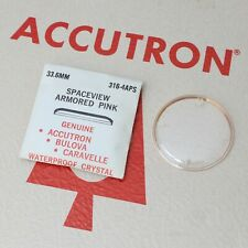 Accutron Spaceview 33.6mm Crystal Part #336-4APS New Old Stock Armored Pink
