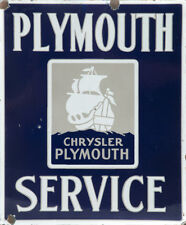 PLYMOUTH SERVICE ADVERTISING METAL SIGN