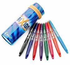 Pilot Frixion Ball 0.7 Erasable Gel 8 Assorted Pens + Metal Tin Case - Blue