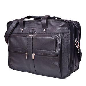 Vintage laptop real cow leather bags briefcase Volos Genuine black eco-friendly