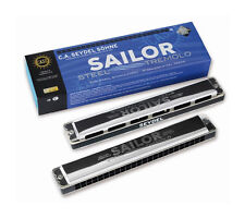 SEYDEL & Söhne Sailor Steel Tremolo Harmonisch Moll Mundharmonika - 26484 in A