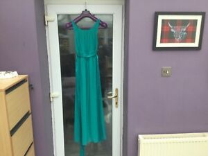 Dorothy Perkins Teal prom/ full length lined dress BNWT Size 12 FREE POSTAGE