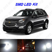11x White LED interior Bulbs + License Plate Lights For 2010-2016 Chevy Equinox