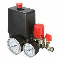 7.25-125 PSI Pressure Switch Air Valve Manifold Compressor Regulator Gauges 240V