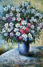 "Claude Monet  Repro  Oil Painting -Vase of Flowers  SIZE24""x36"""