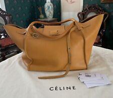 Authentic Celine $4700 Medium Big Bag Dark Yellow Phoebe Philo Tote Cabas