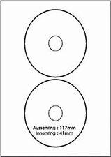 25 Everyday CD DVD-Labels xxl Etiketten weiß 2 pro Seite 1148 Data Becker 0618