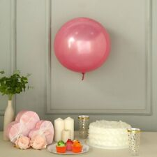 "2 Pink 18"" wide Round Vinyl Balloons - Wedding Event Birthday Party Decorations"