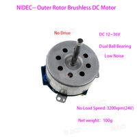Nidec 12V-36V DC Low Voltage Outer Rotor Brushless Motor Hall Sensor No Drive FY