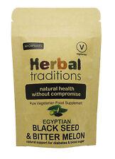 Black Seed & Bitter Melon (support blood sugar) - 100%  vegetarian & halal