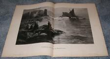 ANTIQUE NAUTICAL GHOST SHIP GHOSTS PRAYER LANTERS SEA MIST SOULS NIGHT BIG PRINT