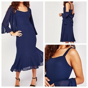 Ladies Navy Blue  Dress Size 18 KATE KASIN Dress & Cover Up Side Zip NEW NWT 🌹
