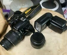 Nikon D D3200 24.2 MP Digital SLR Camera - Black with extras not all pictured
