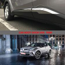 1Chrome For Toyota C-HR CHR 2017-2018 Exterior Door Side Body Molding Trim Cover