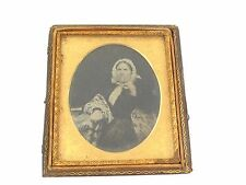 1800s Victorian Ambrotype Photograph of Victorian Seated Lady LAYBY