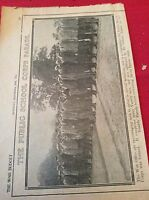 m12l ephemera 1914 picture ww1 epsom camp varsity recruits