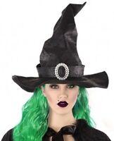 CHAPEAU Noir SORCIERE Luxe Accessoire Déguisement Femme Halloween NEUF