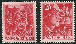 Deutsches Reich aus 1945 ** postfrisch MiNr. 909-910, Ausgabe vom 21.04.1945