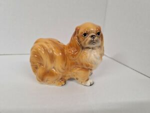 Vintage Japanese Chin Dog Figurine Marked Foreign