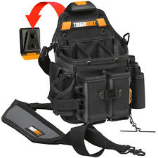 ToughBuilt Tool Bag Pouch Storage Electrician Belt Clips Padded Shoulder Strap