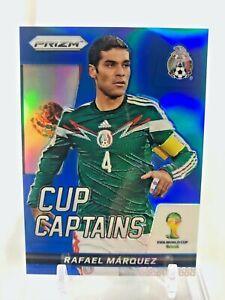2014 Panini Prizm World Cup Captains RAFAEL MARQUEZ Blue Prizm 077/199