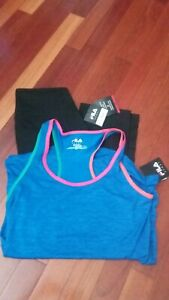 Brand New Women's Fila Sport Top and Capri Pants Set - Size Small