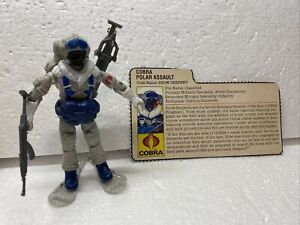 GI Joe 1985 Cobra Snow Serpent 100% Complete W/ Card. Tight Joints. Used.
