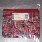 Longaberger Proudly American Old Glory SMALL PICNIC Basket Liner CAKE ~USA~ New!