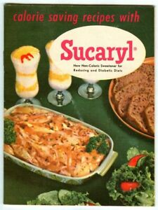 Vintage 1955 Calorie Saving Recipes w SUCARYL! Abbott Labs Advertising Cookbook!