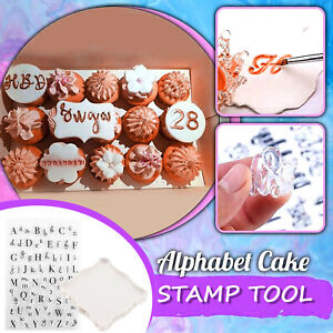 Plexiglass Transparent Stamp Rubber Stamp Alphabet Cake Stamp BIRTHDAY Christmas