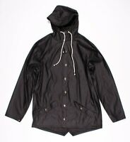New LF Seek The Label Black Hooded Rain Jacket Coat Size S Small $228