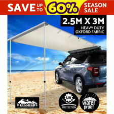 2.5M X 3M Car Side Awning Roof Rack Tents Shades Camping 4X4 4WD Beige
