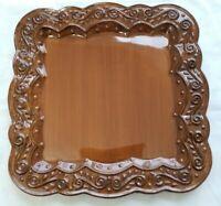 "Celebrating Home Stoneware Plate Venetian Spice Brown Glaze 11""×11"""