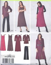 Women's Long Caftan Dress Top Pants Plus Size Sewing Pattern UNCUT Sz 20-28