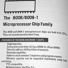 6502 Z80 Intel 4004 4040 8008 8085 F8 TMS9900 MC6800 Microprocessor Data Book