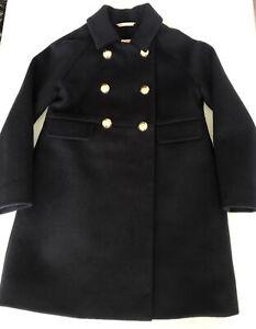 CREWCUTS J Crew Navy Blue Virgin Wool Dress Coat Lined Girls 6-7