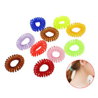 10Pcs Spiral Plastic Hair Tie Wire Coil Hair Bands Rope ring Ponytail Holder Hot