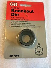 "GB Gardner Bender KD750B Slug-Out Knockout Die 3/4"" (1.91CM)"