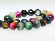 Tiger Eye Beads 8mm Semi Precious Stones - Multi Color - 1 Strand - BD343