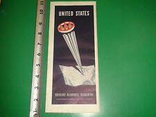 JD454 Vintage 1958 Auto-Lite Service Parts AAA Map of the United States