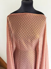 Rose Pink/Gold Lustre Clipped Chiffon Crepe Georgette  Dressmaking Fabric SS/17