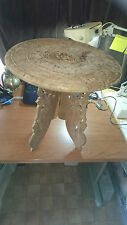 KASHMIR / INDIAN MEDIUM HAND CARVED INLAID TABLE /PLANT STAND & CAMPING??!!