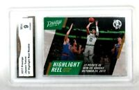 2017 Prestige Jayson Tatum #7 Highlight Reel Rookie Graded GMA GEM 9 MINT