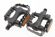 """FP 906 Plastic / Steel BMX MTB Hybrid Road Bike Platform Pedals 9/16"""" Black NEW"""