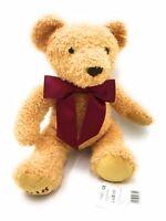Steiff Goldbraun Cosy Year Teddy Bear 2018 With Burgundy Ribbon - New With Tags